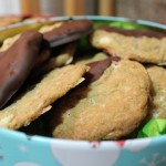 Peppermint Bark Cookie Recipe in Christmas Cookie Tins