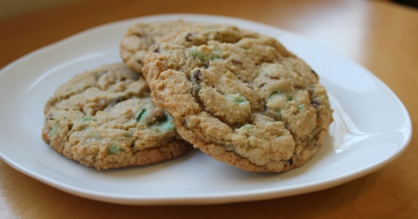 Green Mint Chip Cookies